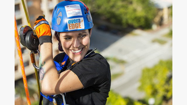 Help Tom White go Over The Edge for the United Way of