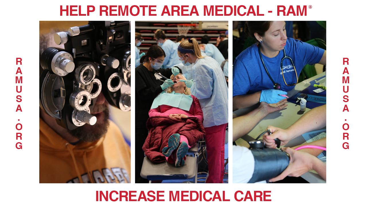 Help RAM Increase Medical Care by RAM HQ