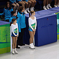 Larkyn as a 12 yr old 2010 Vancouver Olympics Flower Retriever