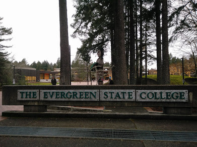 Evergreen entrance