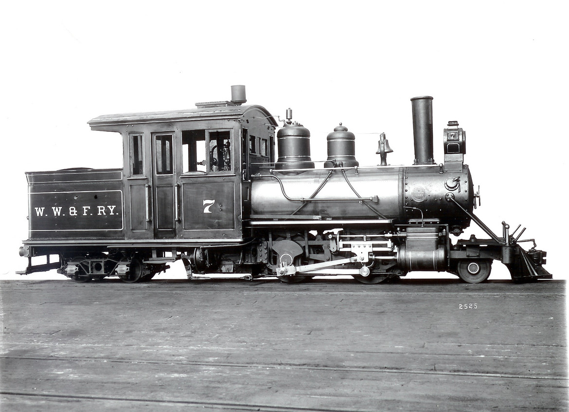 WW&F Locomotive No. 7 as built in 1907.