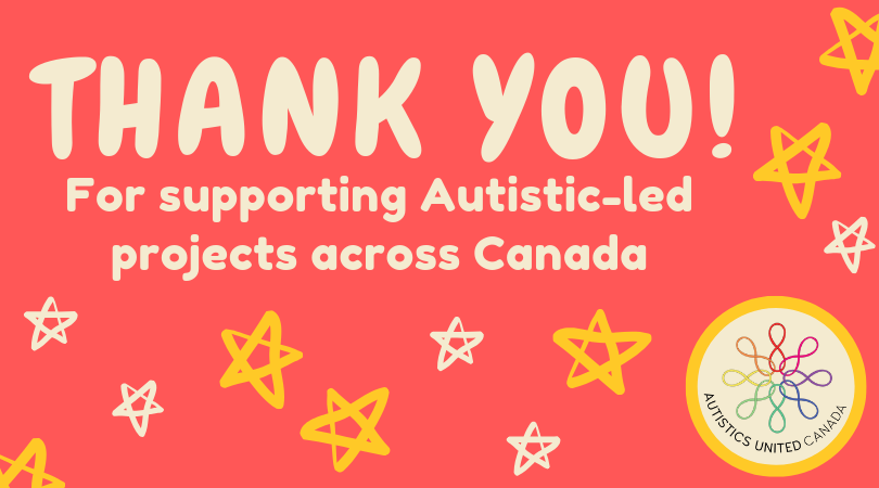 Thank you for supporting autistic-led projects across Canada