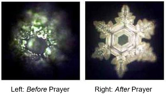Water Crystals before and after Prayer