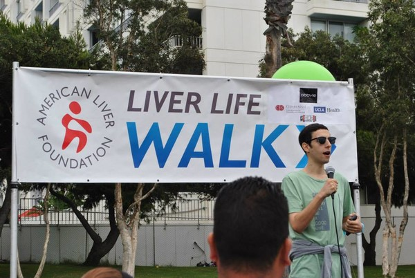 Speaking at the Liver Life Walk