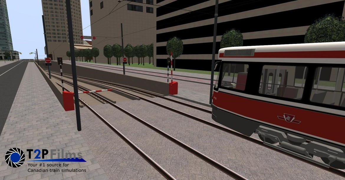 Approaching the underground section in the 509 Exhibition route towards Queens Quay station.
