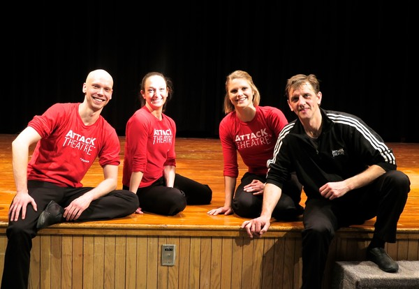 Attack Theatre dancers - Dane Toney, Ashley Williams, Kaitlin Dann and Co-Founder and Artistic Director Peter Kope