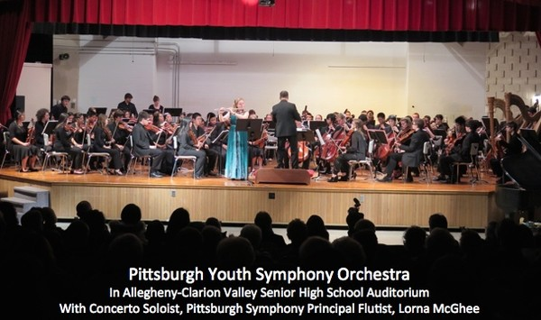 Pittsburgh Youth Symphony Orchestra with Lorna McGhee, Principal Flutist of the Pittsburgh Symphony Orchestra