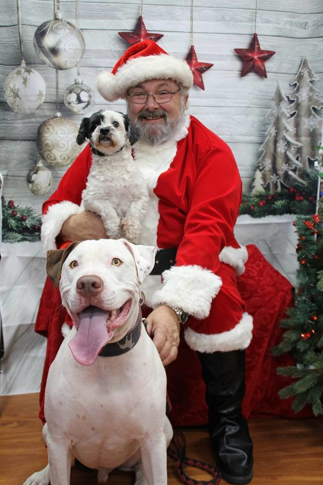 Pete and Snoopy...and Santa