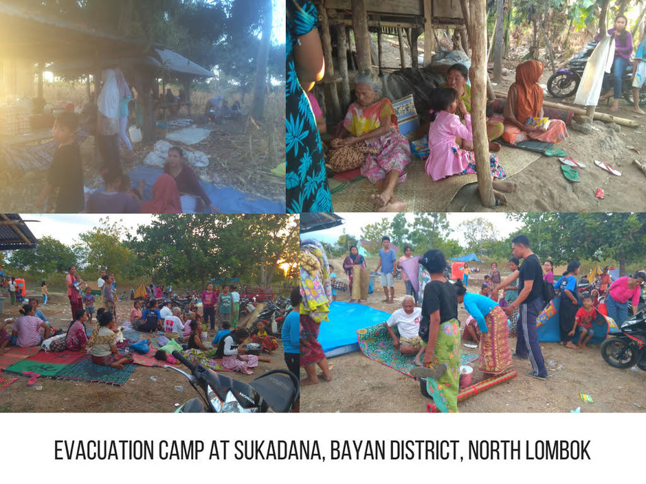 Evacuation camp at Sukadana, Bayan District, North Lombok